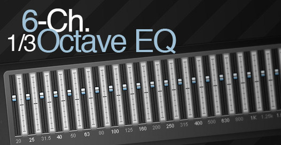 6-Ch. 1/3 Octave EQ